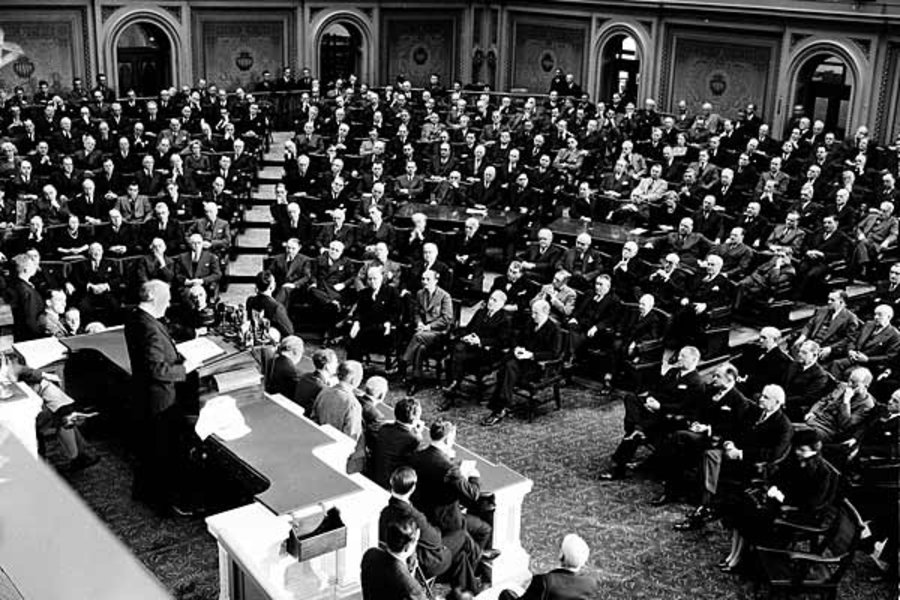 FDR Addressing Congress, Dec. 8, 1941